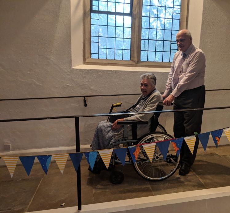 Helen and John demonstrating the new ramp
